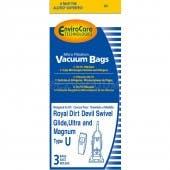 Dirt Devil Type U Vacuum Cleaner Bags  for Ultra M VP, Swivel Glide and Magnum - 3 Pack - Generic