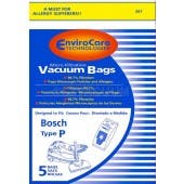Bosch Type P Canister Vacuum Bags - Generic - 5 pack