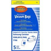 Samsung Canister Vacuum Bags XSM301 - 5 Pack