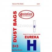 Eureka H Vacuum Bags - Generic - 3 bags + 3 Filters/pack