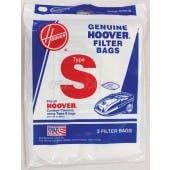 Hoover S Vacuum  Bags 4010064S- Genuine - 3 pack