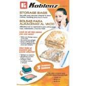 Koblenz Vacuum Seal Bags, Storage Space Bags 45-0807-3 - 1 JUMBO,1 MEDIUM,1 SMALL Space Bag