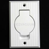 Central Vacuum Inlet Valve with Round Door (White) - 791500W