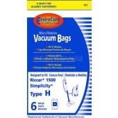Riccar C18 Vacuum Bags for Pristine, Starbright, Charisma Canister vacuum cleaners -  6 Pack