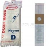Hoover D Vacuum Bags 4010005D- Generic - 3 pack