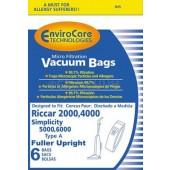 Riccar 2000 Type A Micro-Filtration Vacuum Bags - Generic - 6 pack