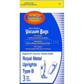 Royal Type B Vacuum Bags 2-066247-001 - Generic- 3 pack