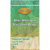Bernina Type U Allergy Performance Cloth Vacuum Bags - Generic - 3 Pack