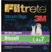 Bissell Type 1, 4 & 7 Filtrete 3M HEPA Vacuum Bags - 3 Pack