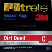 Dirt Devil C Filtrete 3M HEPA Vacuum Bags - 3 Pack