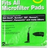 Universal Micro Filter Pad - Fits Dirt Devil, Eureka, Hoover, GE, Kenmore, Panasonic and more