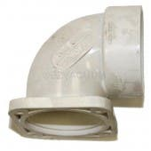 Electrolux 765556W fitting, flanged 90 deg short ell with gasket