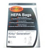 Kirby Generation, Sentria HEPA Allergen Cloth Bags - 6 Pack - Generic for All Generation Models Including Kirby Sentria, Ultimate G, And Kirby G3-G6