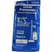 Panasonic Type C-3 Canister vacuum bags MC-125P - Genuine - 3 pack