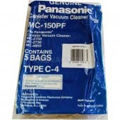 Panasonic MC-150PF Type C-4 vacuum cleaner bags - Genuine - 5 pack