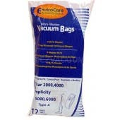 Carpet Pro Envirocare Anti-Bacterial Upright Vacuum Bags - 12 bags