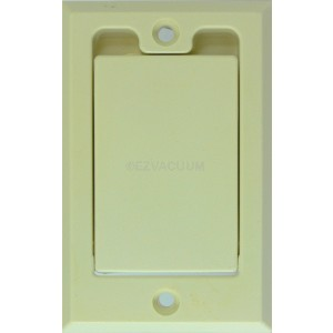 2 Central Vacuum Square Door Inlet Valve Cover Plate White for Hayden
