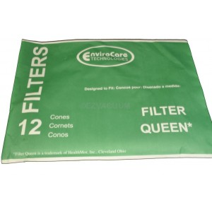 12 x Vacuum Cleaner Cone Filters Set fits Filter Queen Canister Hoover Spare