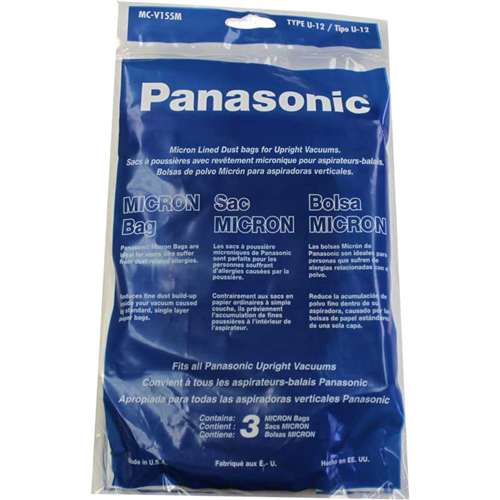Panasonic U 12 Vacuum Cleaner Bags Mc V155m 3 Pack