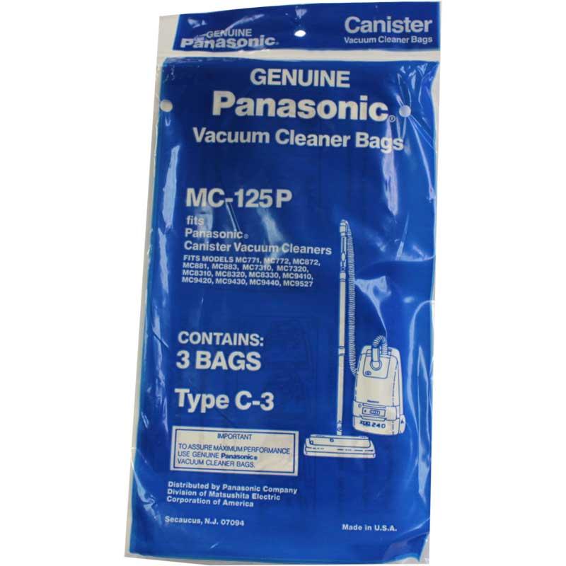Panasonic Type C 3 Canister Vacuum Bags Mc 125p Genuine