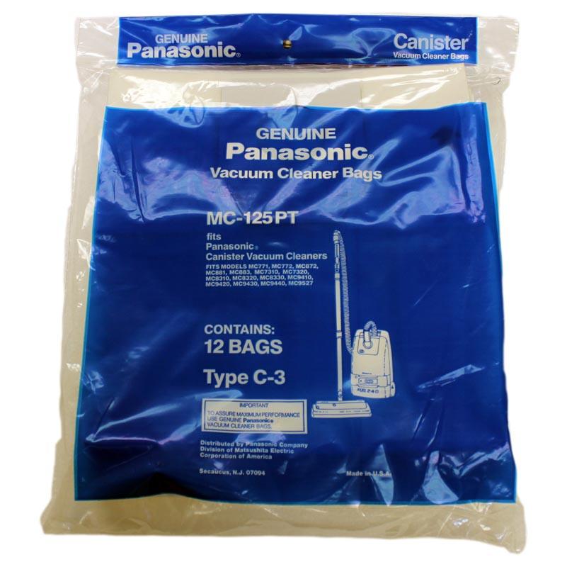 3 Pack Panasonic Type C-3 Vacuum Cleaner Bags #MC-125P
