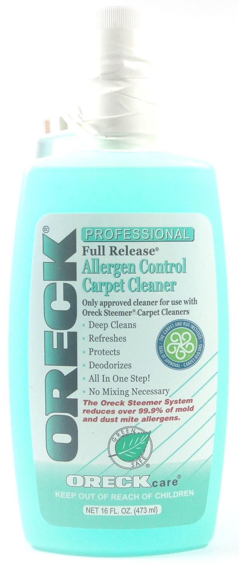 Oreck Full Release Allergen Control Carpet Cleaner Solution