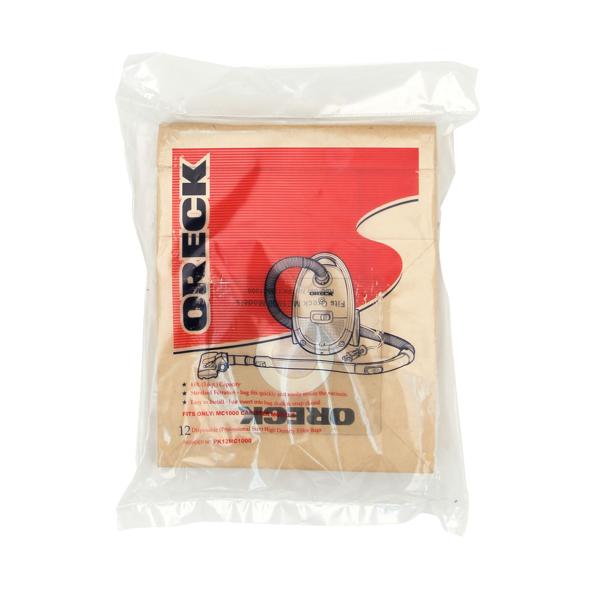 Oreck Pk12mc1000 High Density Quest Vacuum Cleaner Bags