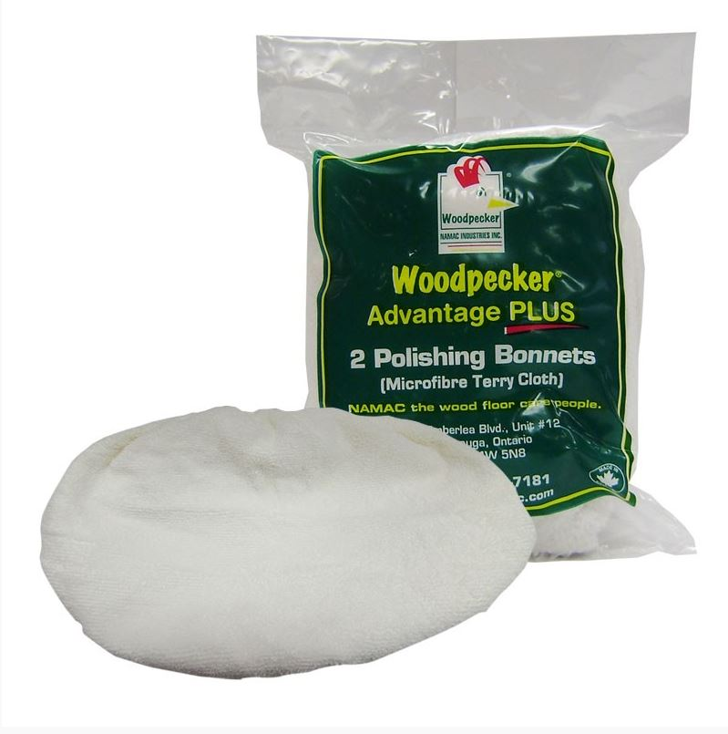 Woodpecker Hardwood Floor Cleaner Terry Bonnets Pads