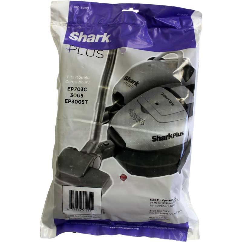 Europro Shark Plus Ep3005t 3005 Vacuum Cleaner Bags 10