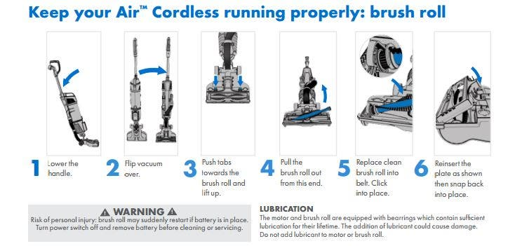 Hoover Air Cordless How To change the brushroll